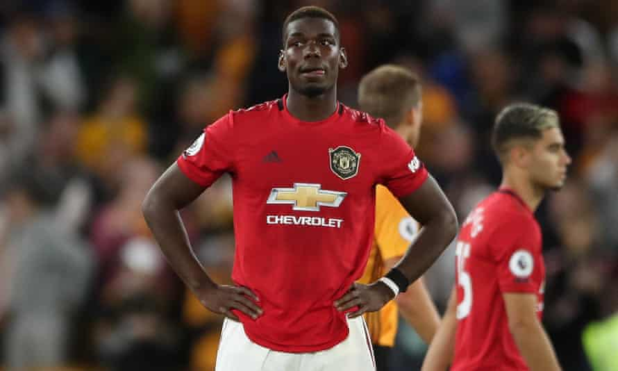 Manchester United's Paul Pogba was racially abused on social media after a penalty miss against Wolverhampton.