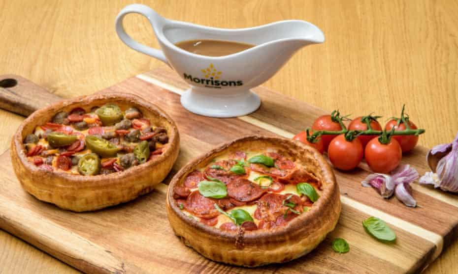 Morrisons' yorkshire pudding pizza