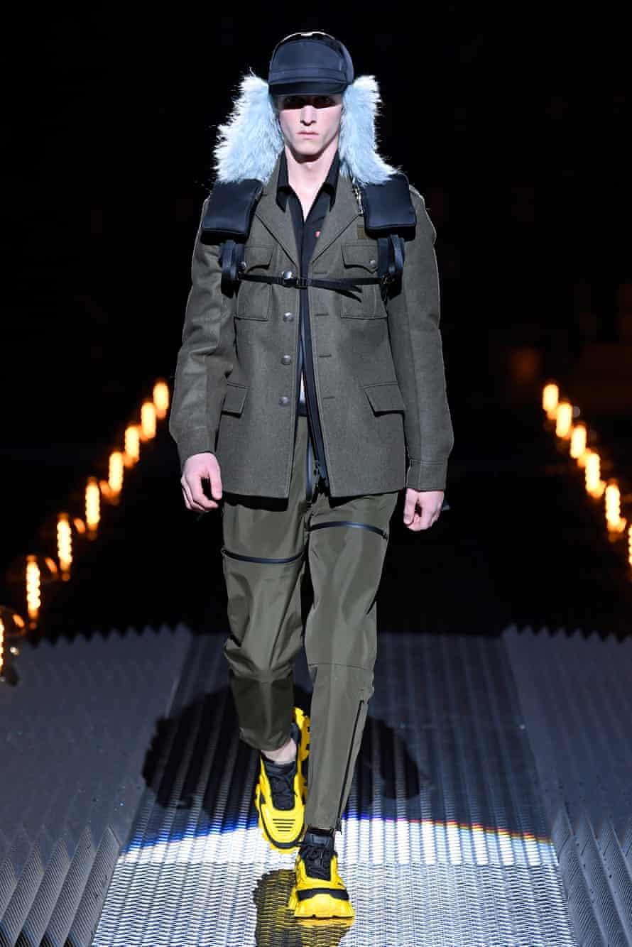 A military vein also ran through the latest Prada collection.