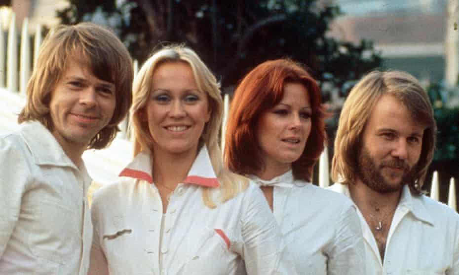 Abba in 1976: Björn Ulvaeus, Agnetha Fältskog, Anni-Frid Lyngstad and Benny Andersson.