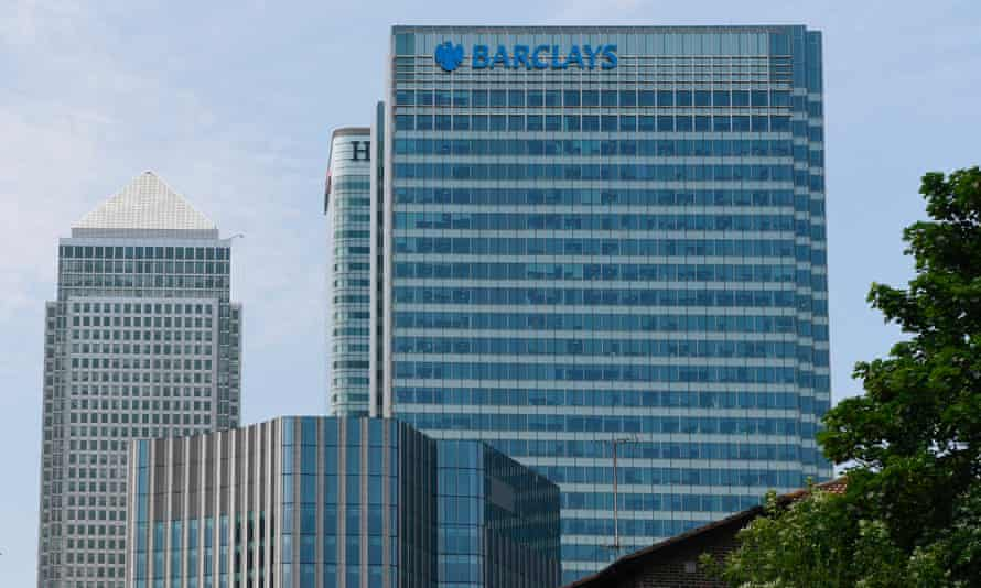 Barclays headquarters in London.