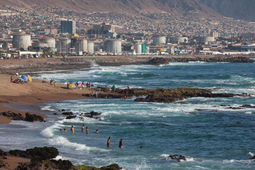 Antofagasta viewed from La Chimba beachfront.
