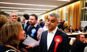 Mayor of London Sadiq Khan at Wandsworth town hall.