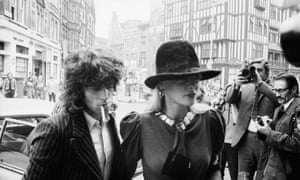 Keith Richards and Anita Pallenberg arriving at court in London on drugs charges in 1973.