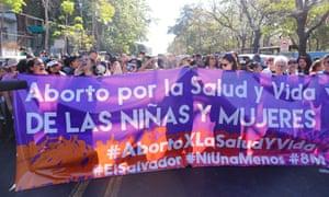 International Women's Day protest in El Salvador.