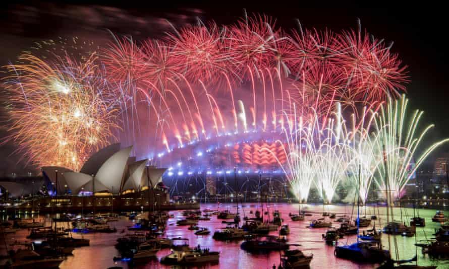 fireworks on Sydney harbour