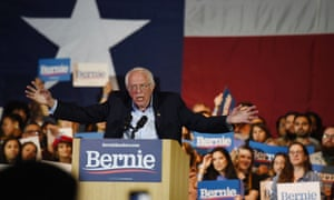 Bernie Sanders speaks in San Antonio, Texas on Saturday night.