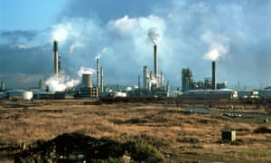 A British oil refinery. A proposed EU directive will reduce the number of carbon credits available through the ETS.