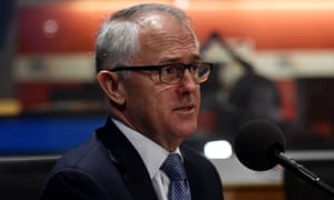 Prime Minister Malcolm Turnbull during an interview on radio station 3AW in Melbourne
