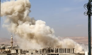 Russian airstrikes in Damascus