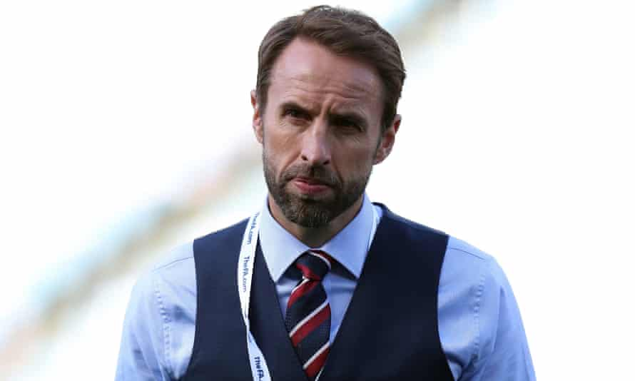 England manager Gareth Southgate watches his young side beat Costa Rica 2-0 in their final friendly before heading to Russia