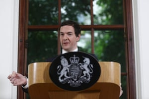 British Chancellor of the Exchequer George Osborne, speaks during a news conference