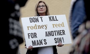 A protest against the execution of Rodney Reed on 13 November.