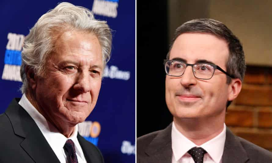 Dustin Hoffman and John Oliver.