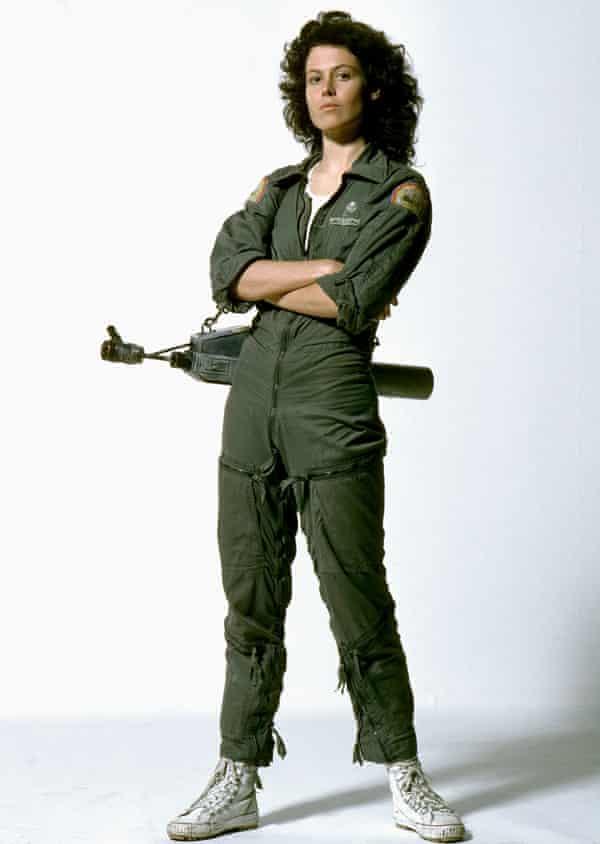 Actor Sigourney Weaver in the 1979 film Alien