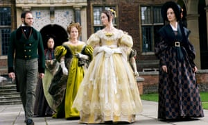 Mark Strong, Miranda Richardson, Emily Blunt and Jeanette Hain in Young Victoria.