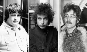 The old guard ... Brian Wilson, Bob Dylan and John Lennon.