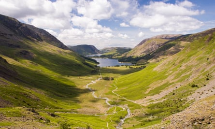 Peak performance: the view from Green Crag towards Buttermere.