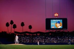 Dodger Stadium baseball park in Los Angeles, 1993