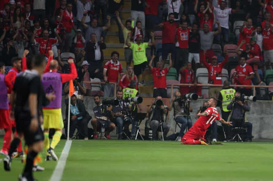 Benfica's forward Haris Seferovic is already up and running this season