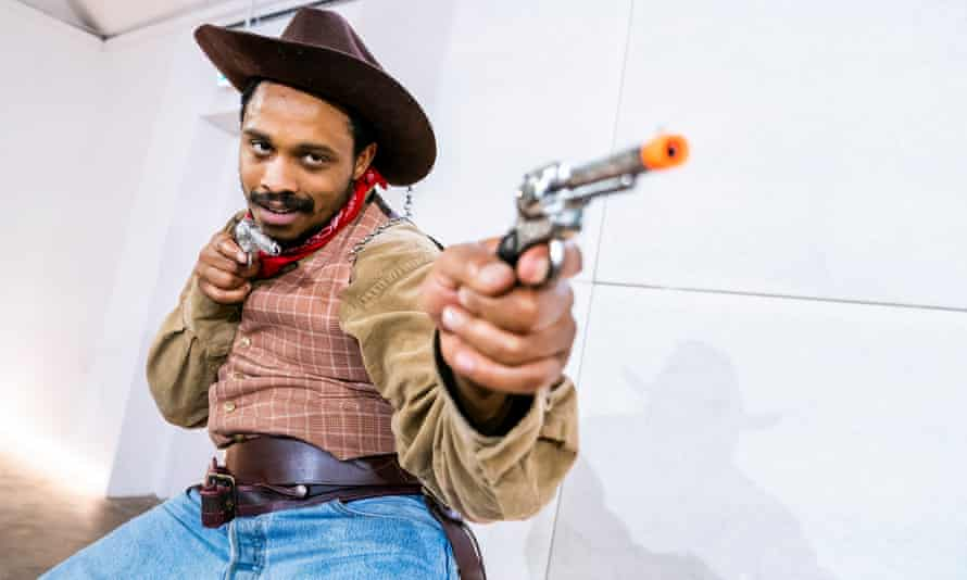 The virus manifests as a lone cowboy who might have strayed off the set of a spaghetti western ... Taurean Steele.