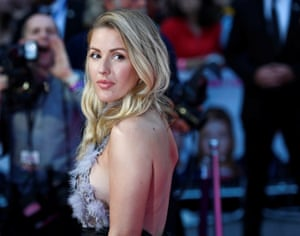Singer Ellie Goulding was among guests at the Leicester Square premiere
