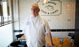 Richard Ord at Colman's fish and chip restaurant in South Shields.