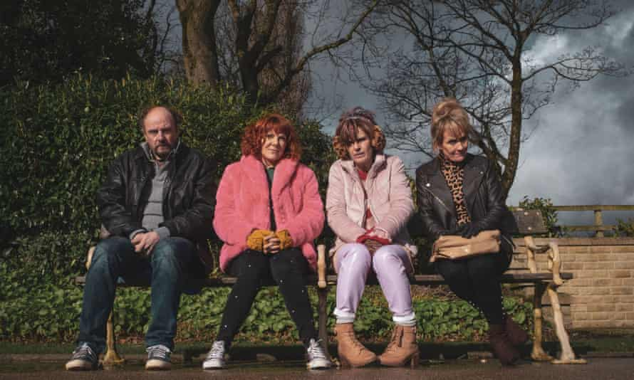 Sophie Willan with Nicolas Ashbury, Siobhan Finneran and Lorraine Ashbourne in Alma's Not Normal