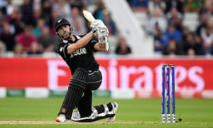 Kane Williamson hits a six that completed his century and tied the game before securing the winning runs.