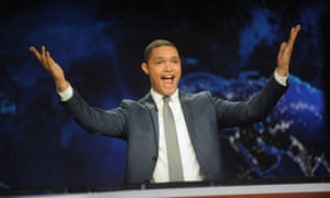 Trevor Noah during his debut on The Daily Show in 2015.