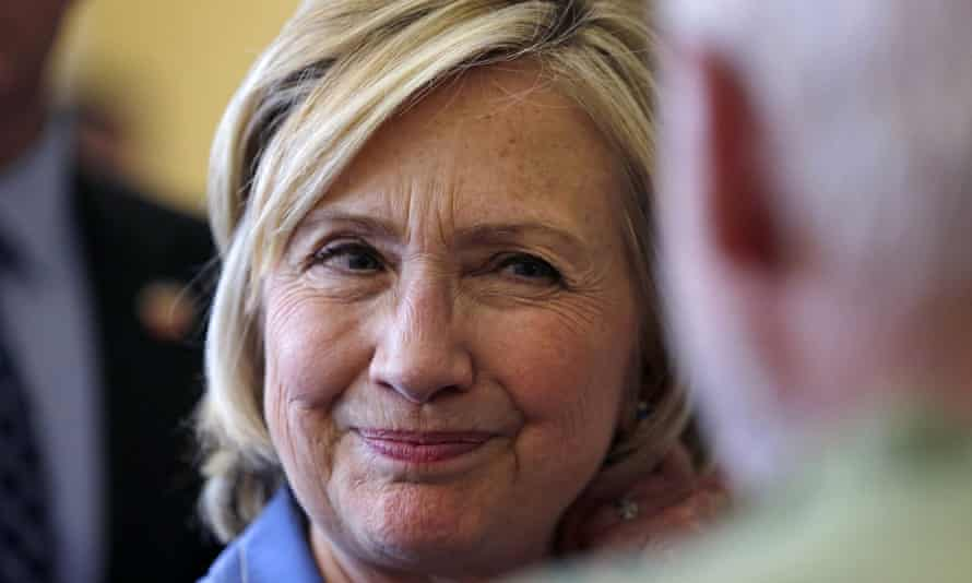 Hillary Rodham Clinton listens to a question at a town hall meeting in Dover, New Hampshire.