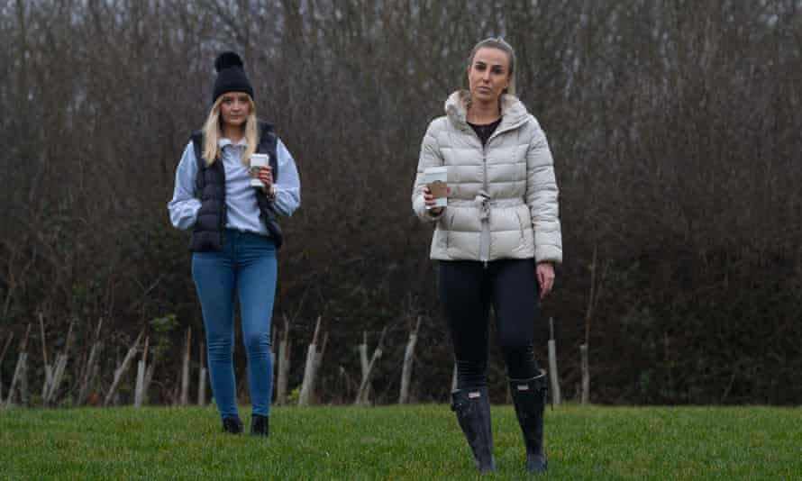 Jessica Allen (right) and Eliza Moore were told their hot drinks were classed as a picnic.