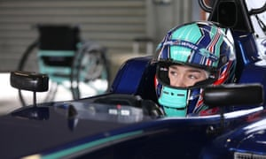 Billy Monger before his F3 comeback in February last year, just 10 months after losing both his legs in a crash at Donington.