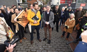 Steve Coogan campaigning with Oli Henman in Lewes