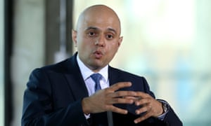 Javid delivers the speech last week in which he said he could have had a life of crime.