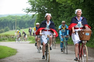 Some of the riders have taken inspiration from the BBC's Call The Midwife