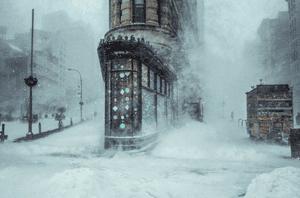 Michele Palazzo flatiron building snow storm jonas