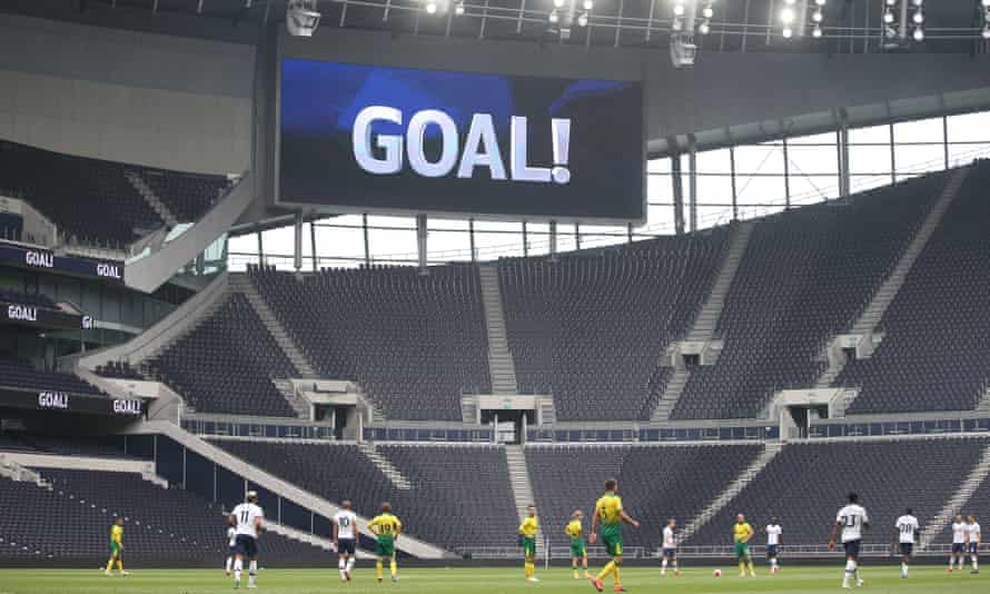 A friendly between Tottenham and Norwich
