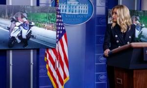 White House press secretary Kayleigh McEnany on Monday.