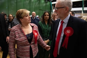 Emily Thornberry and Jeremy Corbyn at the count