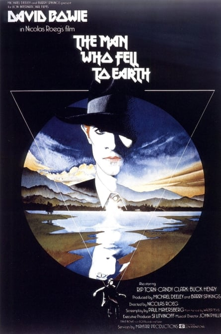 The poster for Nic Roeg's The Man Who Fell to Earth.