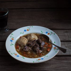 Oxtail stew soup
