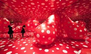 Walking in My Mind by Yayoi Kusama at Hayward Gallery in London.