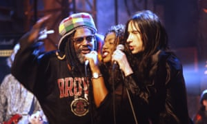 George Clinton, Denise Johnson and Bobby Gillespie of Primal Scream, 1996.