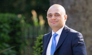The home secretary, Sajid Javid, who spoke about his 'backstory' at the event in Westminster.