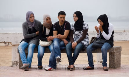 A group of young people in Essaouira.