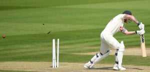 Stokes, bowled by Roach for 20.