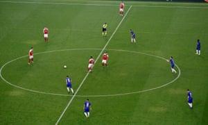 Arsenal kick off.