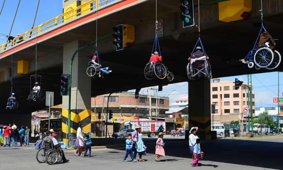 Disabled activists in Cochabamba