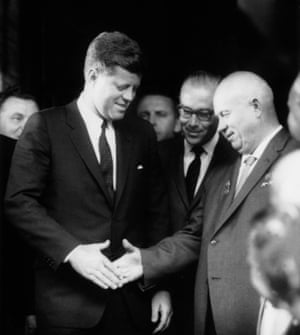 President Kennedy and USSR premier Nikita Khrushchev at the Vienna summit in Austria, June 3, 1961.